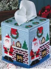 Buy Christmas Scene Tissue Cover Plastic Canvas PDF Pattern Digital Delivery