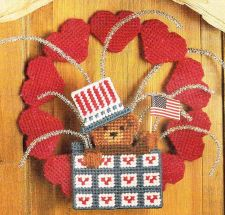Buy 4th Of July Door Wreaths Plastic Canvas PDF Pattern Digital Delivery