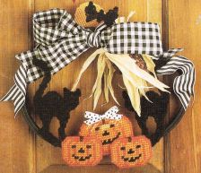 Buy Halloween Door Wreaths Plastic Canvas PDF Pattern Digital Delivery