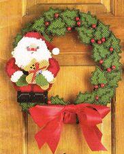 Buy Santa Door Wreaths Plastic Canvas PDF Pattern Digital Delivery