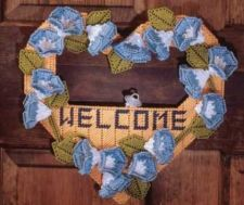 Buy Morning Glory Door Wreaths Plastic Canvas PDF Pattern Digital Delivery