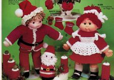 Buy Santa Helper Doll Outfits Crochet PDF Pattern Digital Delivery