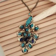 Buy Peacock long necklace