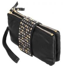 Buy 2014 HOT PU LEATHER FASHION DESIGNER WALLET PURSE RIVET BAG WOMEN CUTE BEAUTIFUL