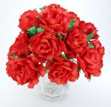 Buy 50 RED ARTIFICIAL MULBERRY PAPER BIG FLOWER WEDDING SCRAPBOOK CARD DAI 2.5 CM