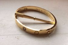 Buy Cartier Love Bracelet 18K Yellow Gold with CZ size 16