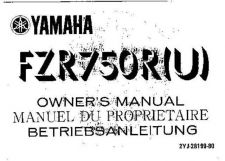 Buy Yamaha 2YJ-28199-80 Motorcycle Manual by download #334017