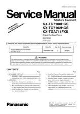 Buy Panasonic KX-TG1100CES Manual by download Mauritron #300428
