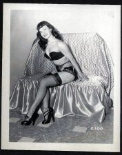 Buy BETTY PAGE SEXY SEXY STUNNER IN BLACK BRA PANTIES VINTAGE IRVING KLAW 4X5 #2100