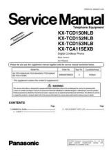 Buy Panasonic KX-TCD150JTW Manual by download Mauritron #299946
