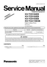 Buy Panasonic KX-TCD150SP Manual by download Mauritron #299952