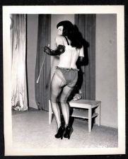 Buy BETTY PAGE LEGGY REARVIEW POSE VINTAGE IRVING KLAW 4X5 BP-345