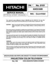 Buy Hitachi CLU-415UI Service Manual by download Mauritron #288860