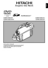 Buy Hitachi DZMV380EAU-2 Service Manual by download Mauritron #290067