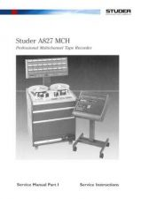 Buy STUDER A827 MCH Service Manual Part1 by download Mauritron #314616