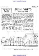 Buy BUSH VHF70 Wireless SERVICE SHEETS by download Mauritron #324885