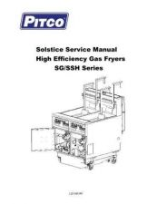 Buy Pitco SG Series Service Manual by download Mauritron #328839