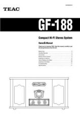 Buy Teac GF188E Operating Guide by download Mauritron #318729