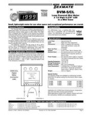 Buy Texmate DVM-5CL DVM02 L10-3-05 Instructions by download #336525