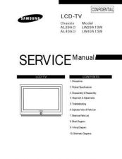 Buy Samsung LW29A13W Service Manual by download Mauritron #322616