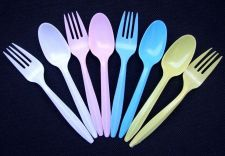 Buy 200 DISPOSABLE PLASTIC PARTY WEDDING BIRTHDAY PICNIC WARE FORKS SPOONS KIDS 5.5""
