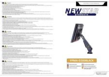 Buy Newstar FPMA D200BLACK Audio Visual Instructions by download #333497