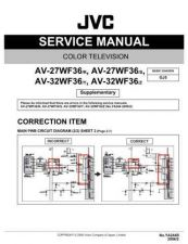 Buy JVC AV-32R4SK Service Manual by download Mauritron #279942