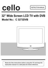 Buy Cello C3273DVB Television Operating Guide by download Mauritron #328164