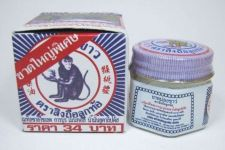 Buy 18 g. WHITE MONKEY HOLDING PEACH BALM JAR Ointment Herbal Medicine Pain Relief