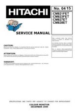Buy Hitachi CM827ET Service Manual by download Mauritron #288997