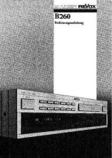 Buy Revox B-260 owners manual by download Mauritron #330949