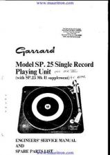 Buy Garrard SP25 Mk III Turntable by download Mauritron #331770