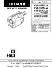 Buy Hitachi VMH775LE-- Service Manual by download Mauritron #286980