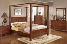 Buy Antique Bedroom Furniture 4 Pc set Bed frame Dresser Night stand #F9277Q