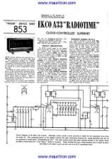 Buy EKCO A33 Service Sheets Set by download Mauritron #326457
