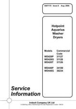 Buy Hotpoint Aquarius WD420G Washer Dryer Service Manual by download Mauritron #321967