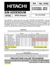 Buy Hitachi PA0182 Service Manual by download Mauritron #331902