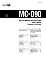 Buy Teac MC-DX30EFS Operating Guide by download Mauritron #318956