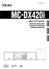 Buy Teac MC-DX50iE Operating Guide by download Mauritron #319020