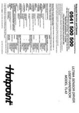 Buy Hotpoint TL43 Dryer Operating Guide by download Mauritron #314088