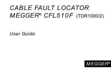 Buy Megger CFL510F Operating Guide by download #336179