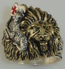 Buy Christian LION lies with Lamb Mens ring Sterling Silver