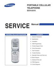 Buy Samsung SCH-A310 Mobile Phone Service Manual by download Mauritron #306262