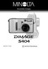 Buy Minolta DI S404 UK HW Camera Operating Guide by download Mauritron #320914