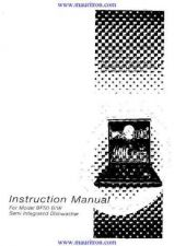 Buy Hotpoint BF-50 Dishwasher User Guide by download Mauritron #320150