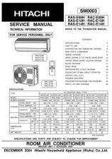 Buy Hitachi RAC18CH1_EN Service Manual by download Mauritron #290915