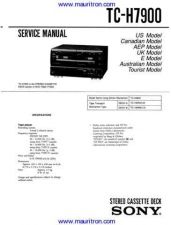 Buy Sony TC-H7900 Technical Manual by download Mauritron #327130