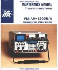 Buy IFR 1200S A Service Manual by download Mauritron #315507