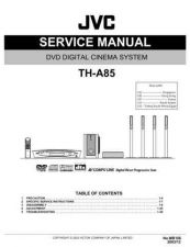 Buy JVC TH-A85-1 Service Manual by download Mauritron #283718