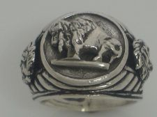 Buy Buffalo Nickel Indian Warrior mens pinky ring sterling silver